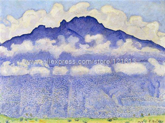 Ferdinand Hodler Schynige Platte Purple Mountain Landscape Clouds Hand Painted Discount Discount Music Wall De(China (Mainland))