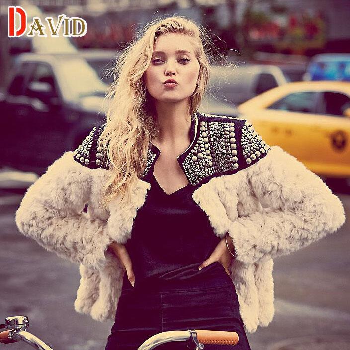 Womens winter jackets coats 2015 autumn Women clothes faux fur coat cashmere brand Ladies luxury rivet leather jacket V8G178