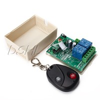 New 12V 2 Channel Jog Wireless Remote Controller Control Switch Board Fixed Code