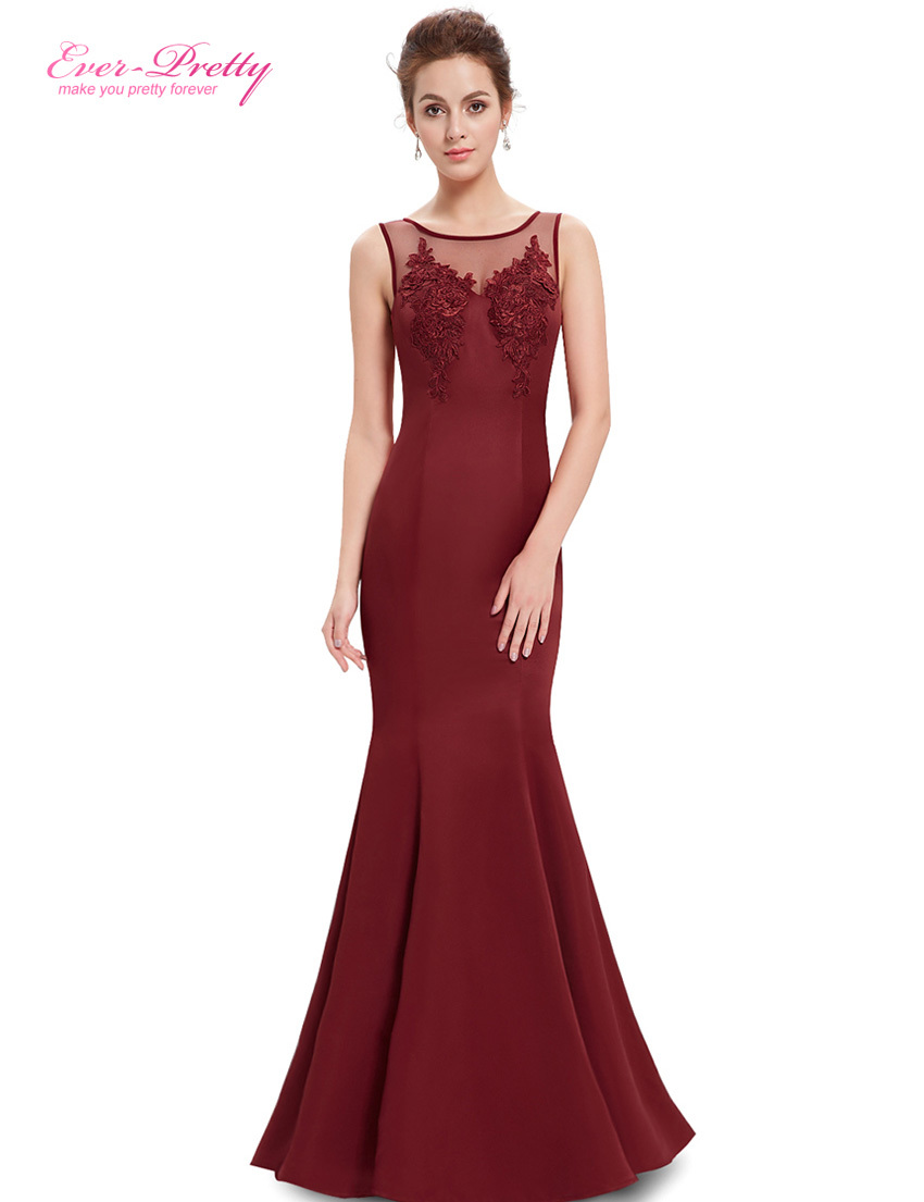 Party Dresses Ever Pretty HE08358 2015 New Arrival Women Elegant Round Neck Mermaid Maxi Long Summer Style Party Dresses(China (Mainland))