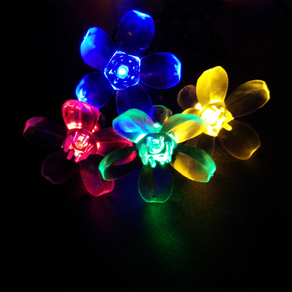 Multicolor 4.8M 20LEDs Christmas Solar LED String Lights LEDs Solar Lamps Garden Outdoor Garland Lights Solar free shipping(China (Mainland))