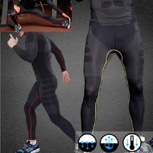 Гаджет  Mens Athletic Pants Compression Running Training Base Layers Skin Sports Tights None Спорт и развлечения