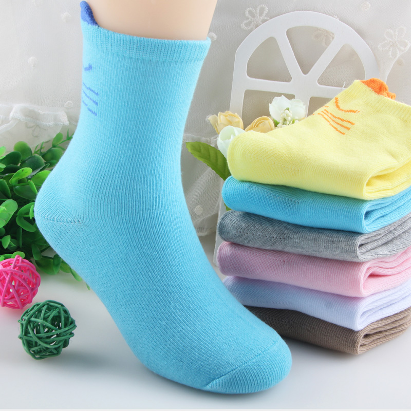 Free shipping High quality fashion lovely 0-7 ages three size can choose cotton Baby socks boys girls socks for kids Children(China (Mainland))