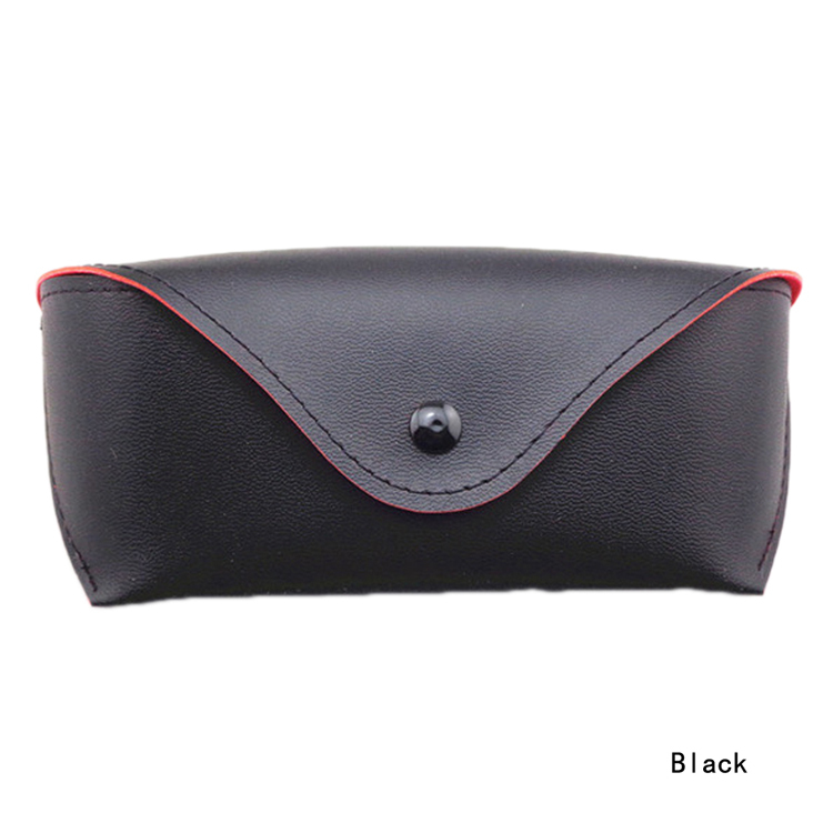 High Quality Trendy PU Leather Material Eyeglass Sunglasses Case Color Black Sunglass Accessories GS 095