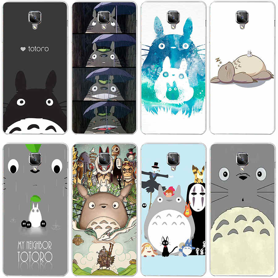 356GH Totoro Anime Hard Transparent Cover Case Oneplus 3 3T