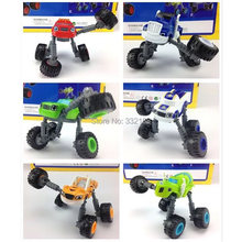 2016 6Pcs toys Blaze and the Monster Machines Vehicles-Blaze Crusher ZEG PICKLE Vehicle Car With Original Box Gifts For Kids(China (Mainland))