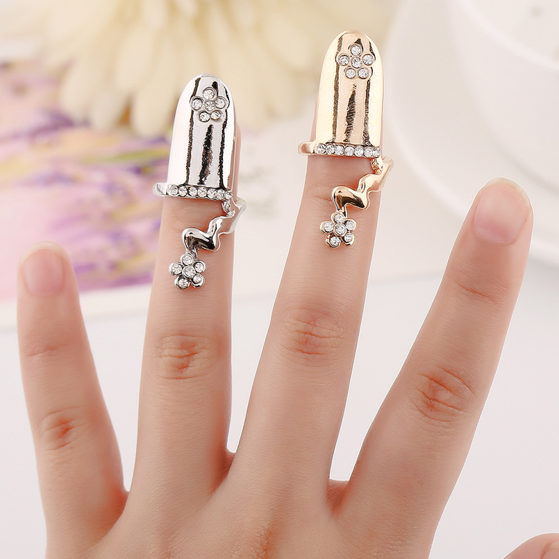 Tip Top Jewellery: New Chic Simple Lovely Top Of Finger Tip Cover Nail Rings