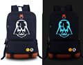 New Star Wars Backpack Anime Fashion Canvas Student Luminous Schoolbag Unisex Travel Bags