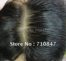 Top quality Hairpieces straight People real hair for old woman/men toupee skin base wig Natural hairline Hand tied hand made wig(China (Mainland))