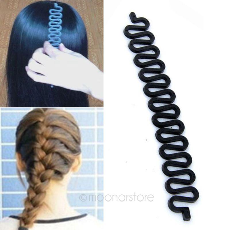 1 Piece Free Shipping Fashion Lady Womens Hair Braid Tool Hair Twist Roller Elastic Hair Bands Braid Hairpeice(China (Mainland))