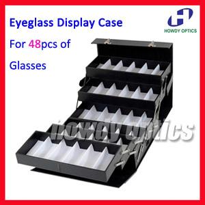 48 Slot Foldable Eyeglass Eyewear Sunglasses Suitcase ...