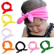 1 X Baby Kids Girls Cotton Headband Knot Tie Headband Headwrap Hair Band Vintage Head Wrap Hair Accessories