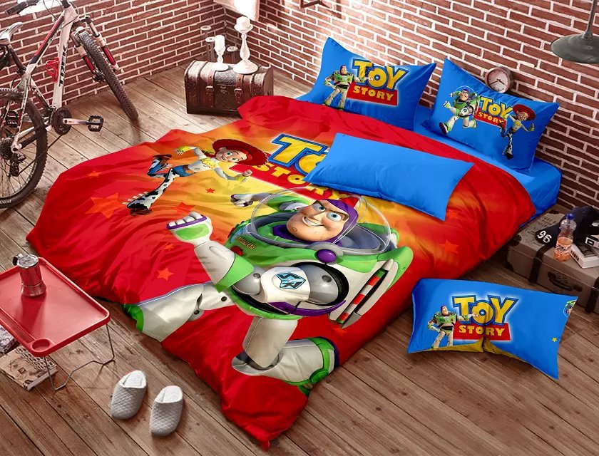 aliexpress com buy toy story bedding bedding set red mom recreates andy s room from toy story to give twin