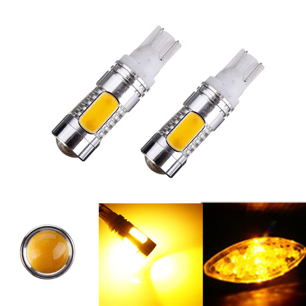 New T10 W5W 194 168 Cree Q5 LED High Power Amber Orange Car Auto Light Source Signal Tail Turn Reverse Parking Lamp Bulb DC12V(China (Mainland))