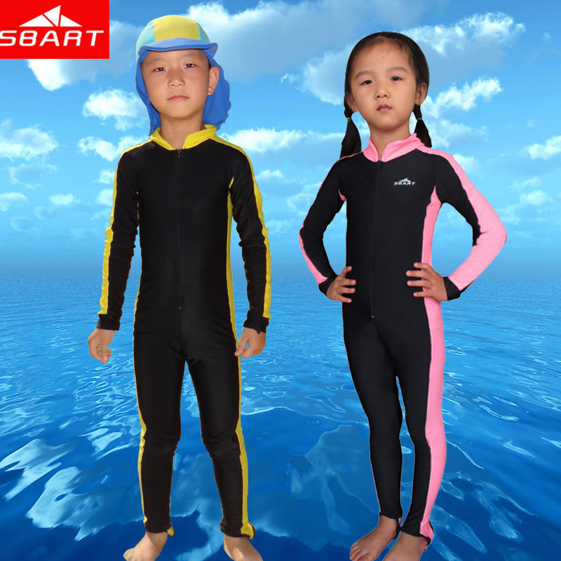SBART Wetsuit Kids Upf50 Anti UV Sun Protection Lycra Skin Wet Suits Boy Girl Snorkeling Clothing Surf Diving Wet Suit One Piece(China (Mainland))
