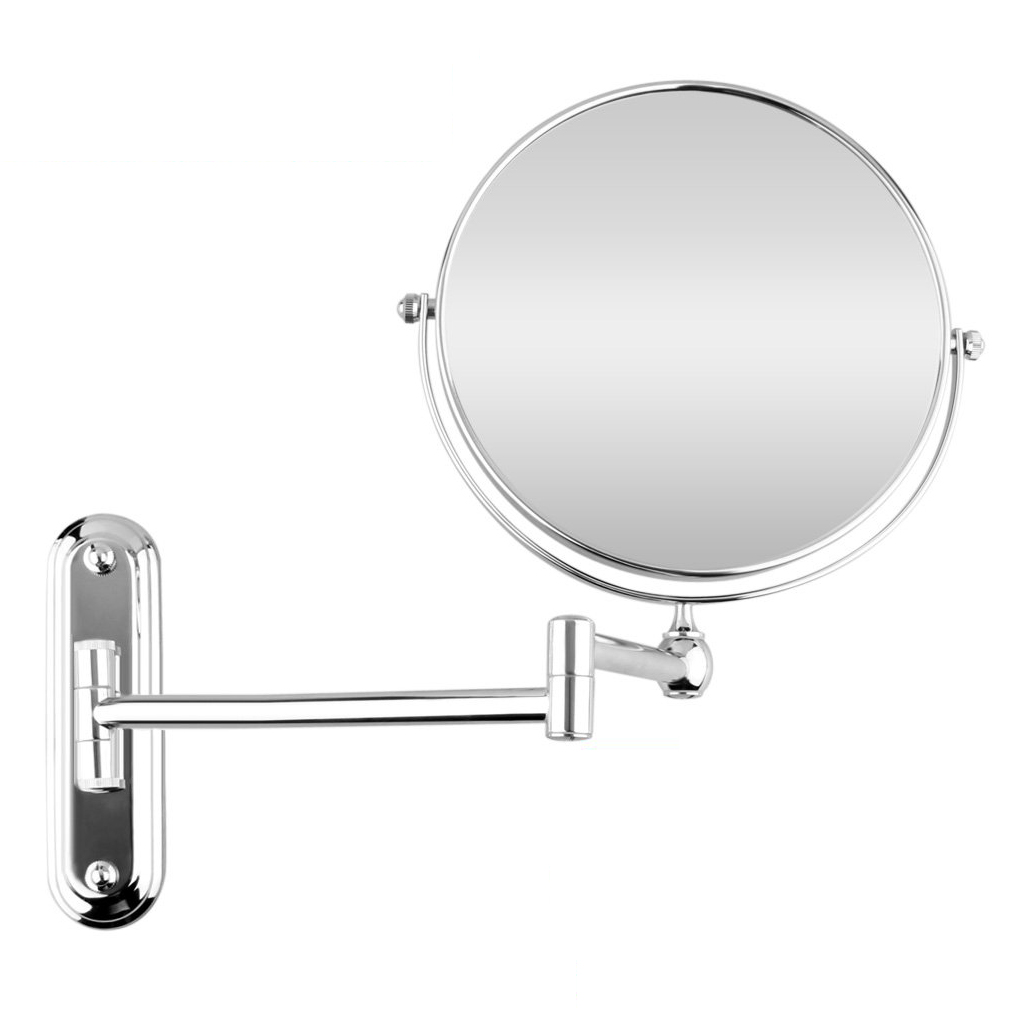 Best Sale Silver Extending 8 Inches Cosmetic Wall Mounted Make Up Mirror Shaving Bathroom Mirror