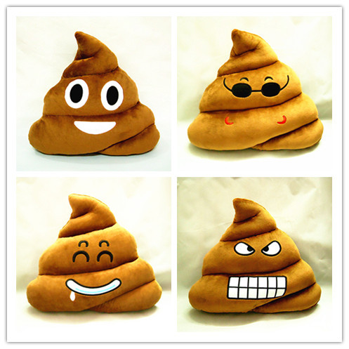 Cushion Emoji Pillow Gift Cute Shits Poop Stuffed Toy Doll Christmas Present Funny Plush Bolster Cojines Pillows Cushions(China (Mainland))