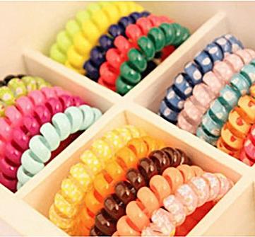 1pcs telephone ring ring Korean printing large bold headwear accessories elastic jewelry wholesale(China (Mainland))
