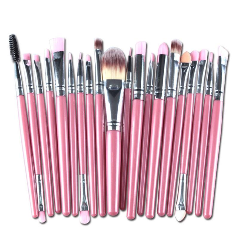 20 pcs Pro Powder Brushes font b Cosmetic b font Set Foundation Eyeshadow Lip Face font
