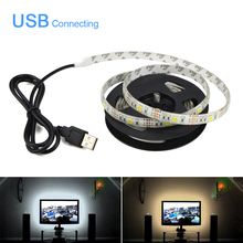 Buy LED Strip light 5050 Waterproof 5m 4m 3m 2m 1m 0.5m DC5V tira led String Ribbon TV Background lighting Decor lamp bulb Tape for $1.90 in AliExpress store