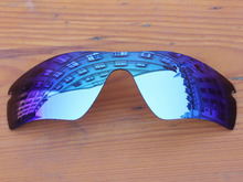 Polycarbonate-Ice Blue Mirror Replacement Lenses For Radar Path Sunglasses Frame 100% UVA & UVB Protection
