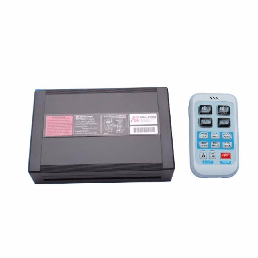 12V Car Electronic Police Siren Car Alarm Siren 400W AS940 Horn Wireless Remote Control Megaphone Loudspeaker Amplifier System