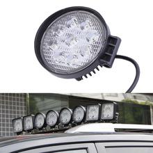 2016 27W 12V LED Work Light 60 Degree High Power LED Offroad Light Round Off road LED Work Light Flood Light for Boating Hunting(China (Mainland))