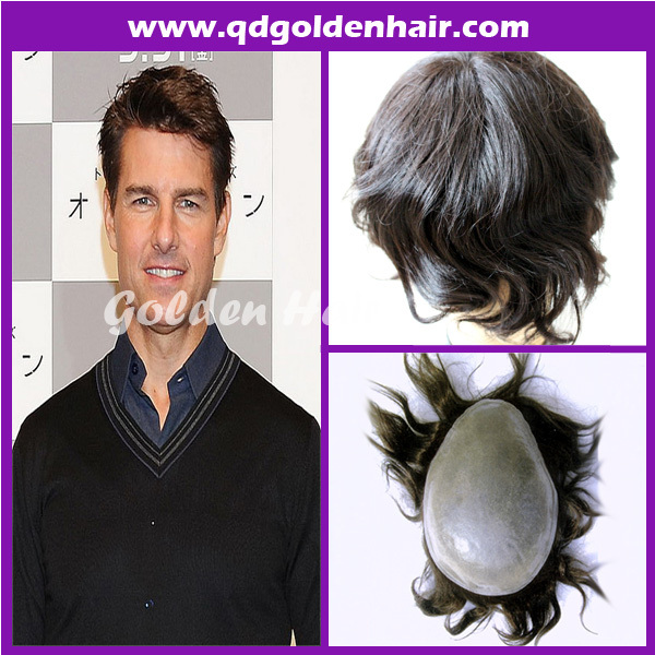 2015 New Products Popular Style Human Remy Hair Toupee(China (Mainland))