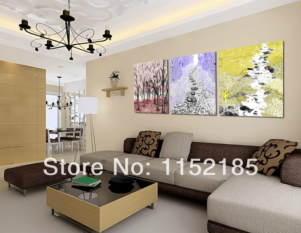 com buy free shipping multi abstract 3 panel canvas wall art