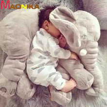 60CM One Piece Cute 5 Colors Elephant Plush Toy With Long Nose Pillows PP Cotton Stuffed Baby Cushions Super Soft Elephants Toys(China (Mainland))