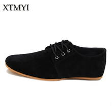 2015 Spring/Autumn Fashion Men shoes Casual Shoes Lace-up Low Breathable Suede Classic Casual Mens flats