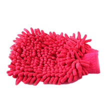 New Arrival 1pc Professional Car Wash Gloves Plush Cleaning Mitt Household Products Color Random HG-2006-Random(China (Mainland))