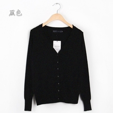 Hot Sale Casual Long sleeved Women Tricot Sweater Female 2015 New Fashion Autumn Korean Short Knitted Cardigan Thin Section XL(China (Mainland))