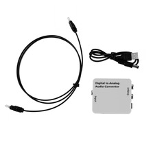 Digital Optical Toslink Coax to Analog R/L/RCA Audio Signal Converter Adapter hot new