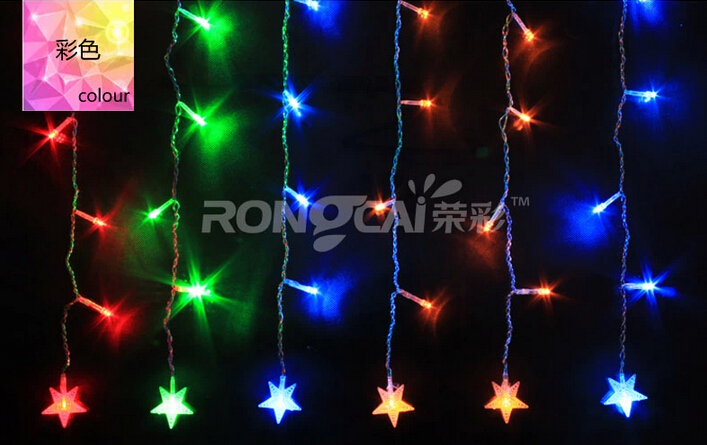 4mx0.6m LED icicle lights pearl pentacle / Christmas Day wedding decorations(China (Mainland))