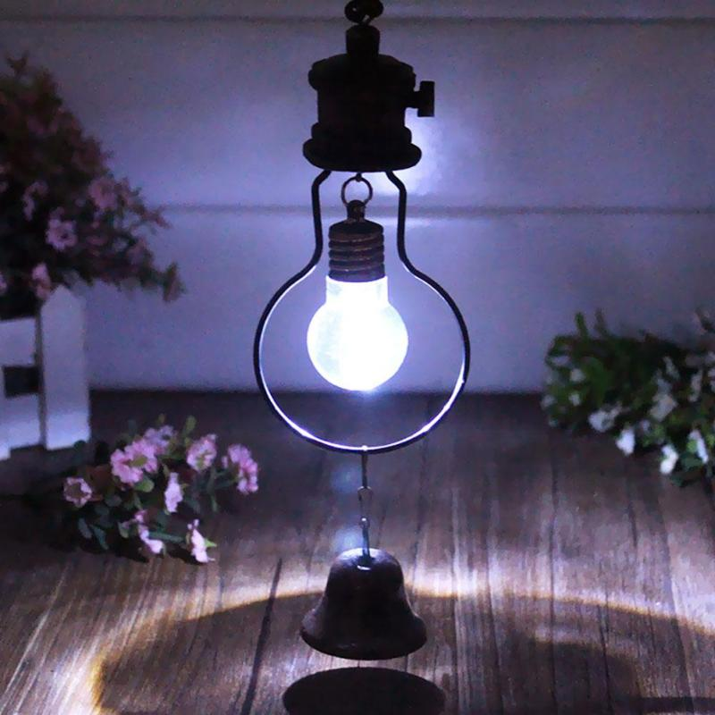 Novelty Garden light Retro Wind Chimes Lamp LED Iron Vintage Hanging Nightlight home Decorations Valentine's Day gift F2-18L