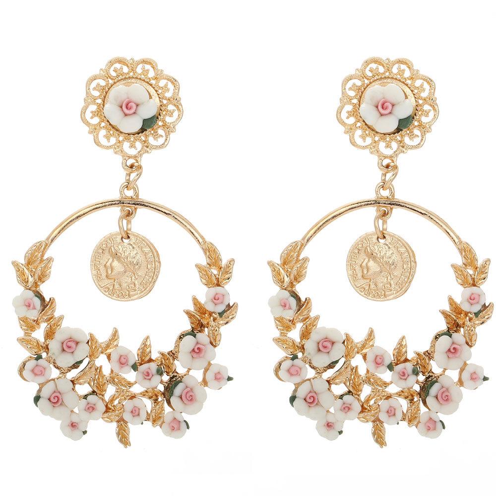 Elegant U10e6 U01b8u0335u0321u04dcu0335u0328u0304u01b7 U10e6Women Earring Long U15db Drop Drop Earrings Gold-color With CZ U0b67u0295 U0294u0b68 Stone Stone Classic ...