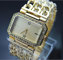 Classic Luxury Gold Plated Mesh belt Quartz Dress Watches For Women Fashion Casual Watch 2015 New