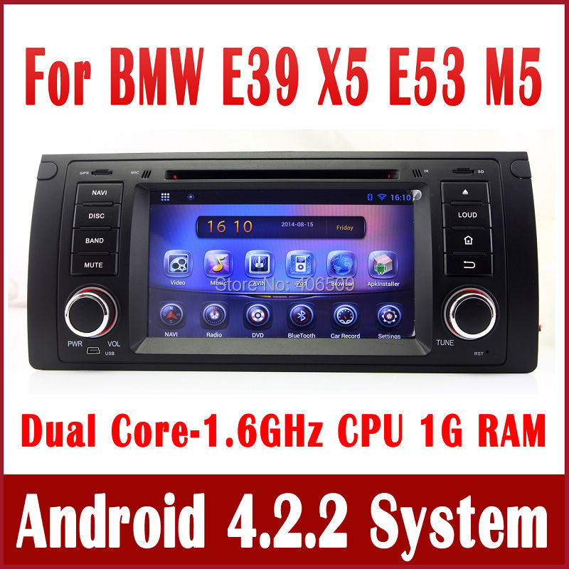 Android 5.1 Car DVD Player for BMW M5 E39 X5 E53 with GPS Navigation Radio TV BT USB AUX DVR MP3 3G WIFI Audio Video Stereo(China (Mainland))