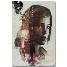The Last of Us Silk Fabric Wall Poster Print Zombie Survival Horror Action TV Game Pitcures 12x18 20x30 24x36 inches 001(China (Mainland))