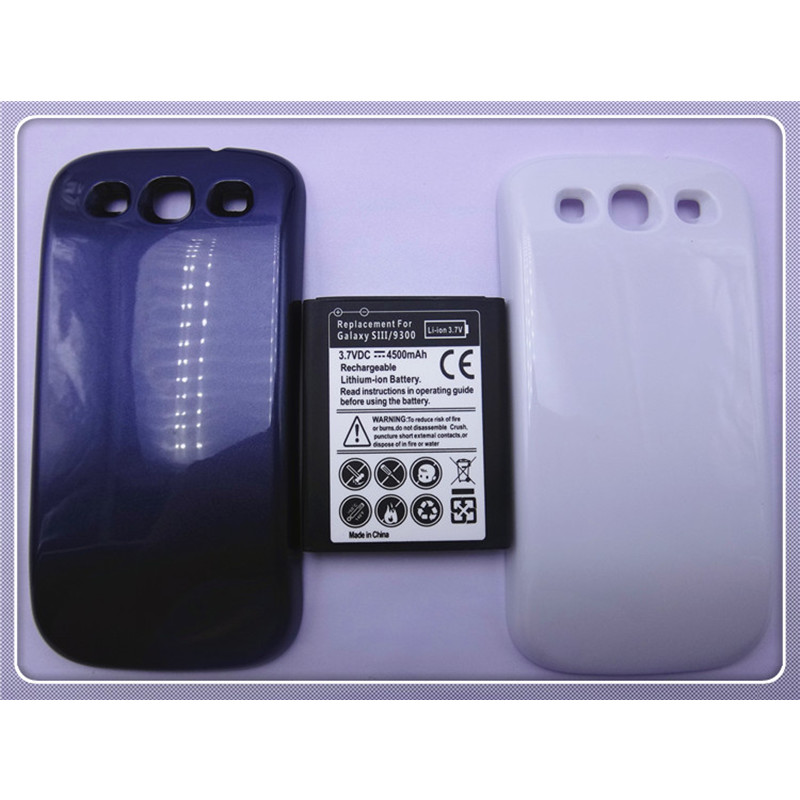 OEM New High Quality Mobile Phone Battery 4500mAh For Samsung Galaxy S3 SIII i9300 S 3 III + Batery Back Door Case(China (Mainland))