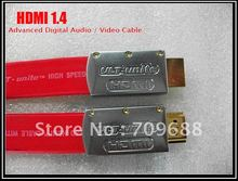 hot sale!  HDMI flat cable HDMI1.4 HDMI to HDMI cable 1M (100% quality assurance Free shipping)