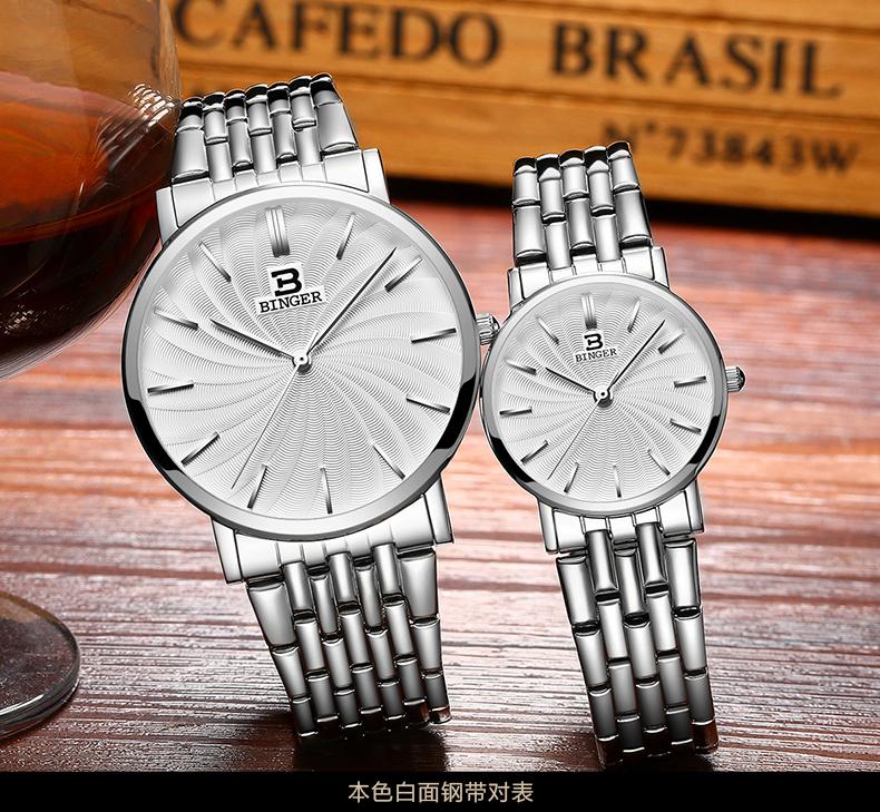 Switzerland Binger 2017 Ladies Wrist Watch Women Brand Famous Female Clock Quartz Watches Montre Femme Relogio Feminino