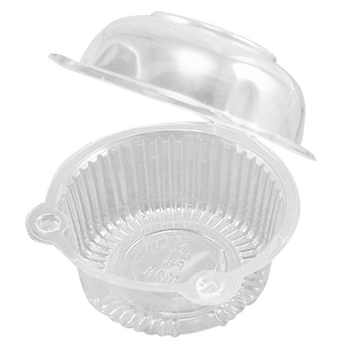 50 x Single Plastic Clear Cupcake Holder / Cake Container(China (Mainland))