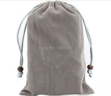 A variety of color optional drawstring velvet bag for mobile phoneHDD accessories gift jewelry bagspouch customized wholesale