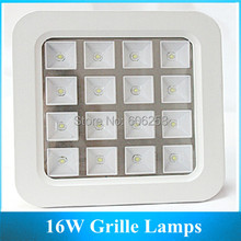 AC85V-265V16W Living Room High Power Eergy Saving LED Grille Light 10pcs(China (Mainland))