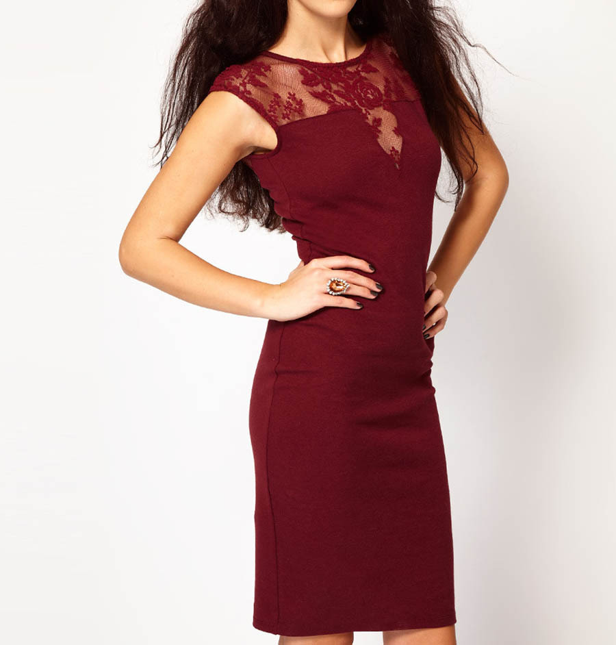 New 2015 Women Dress Sleeveless Slim Hip Sexy Lace Dress Bodycon Dresses Women Cocktail Party Dresses Vestidos #6(China (Mainland))