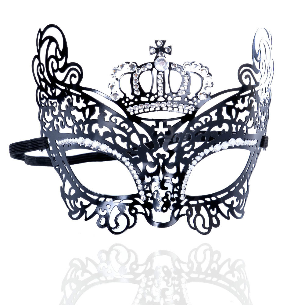 Hot sales Iron aliexpress hollow retro diamond crown mask sexy dance accessories. party decorative mask.Prom mask..(China (Mainland))