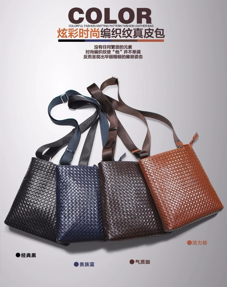 Free Shipping [4 Colors] Genuine Leather  Men Messenger Bags, Genuine Leather Bags,   Fashion Men Bags #1041n