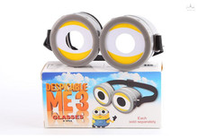 Minions Despicable Me cos cosplay anime glasses children's day toy gift party coser prop (China (Mainland))